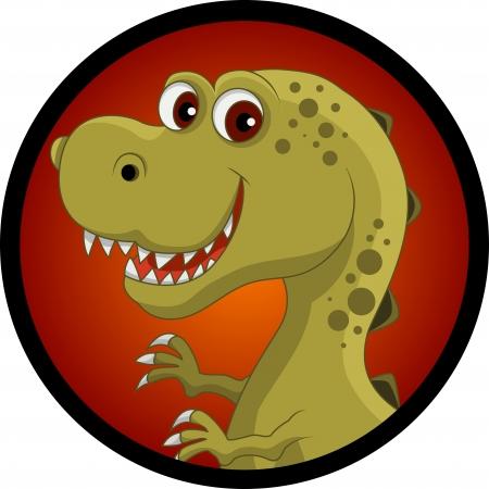 dinosaurio caricatura: dinosaurio divertido de la historieta cabeza