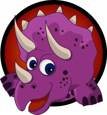 prehistoria: dinosaurio divertido de la historieta cabeza