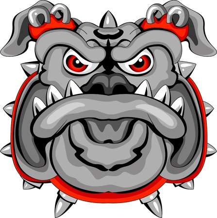 Bulldog Mascot Head  Vector