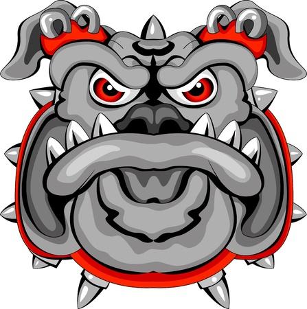 bull cartoon: Bulldog Mascot Head