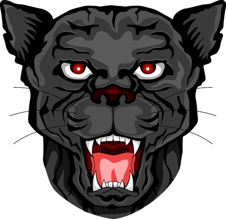 panther head tattoo tribal Stock Vector - 15276204