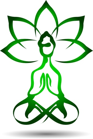 'peace of mind': Yoga lotus icon