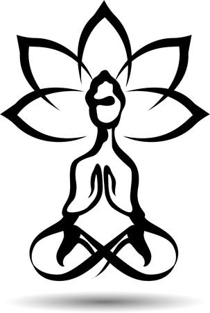 yoga icon: Yoga lotus icon