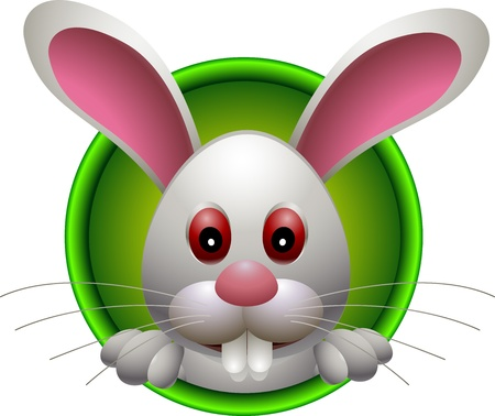 cute head rabbit cartoon Vector