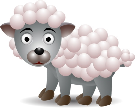 funny sheep cartoon Stock Vector - 15326520