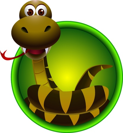 serpiente de cascabel: historieta linda de la serpiente