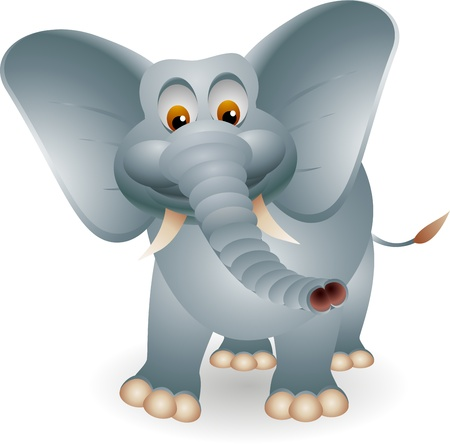 illustration zoo: cute elephant cartoon