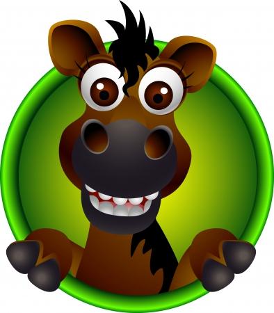 wild wild west: carino cavallo cartone animato testa