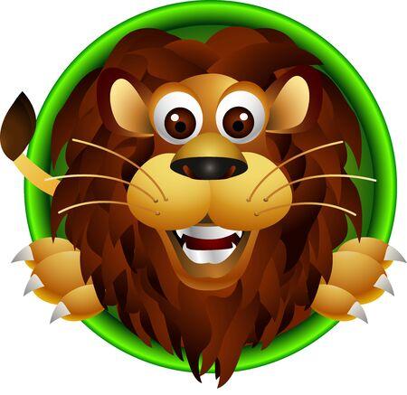 the lions: lindo cabeza le�n de la historieta