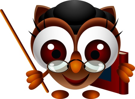 cute owl presenting Stock Vector - 15377107