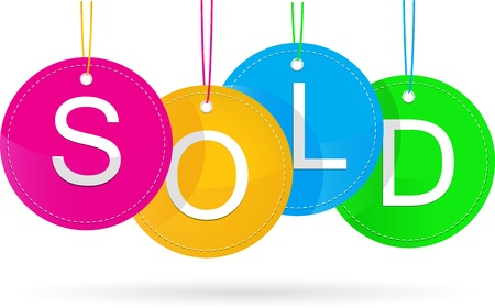 sold icon Stock Vector - 15451608