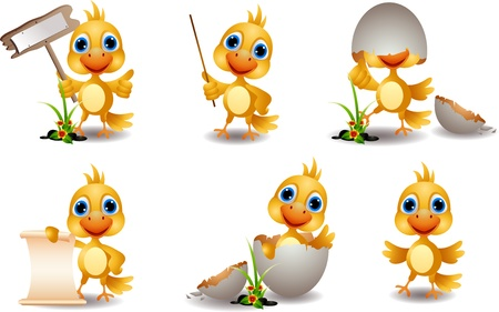 baby cartoon: cute chick cartoon collection