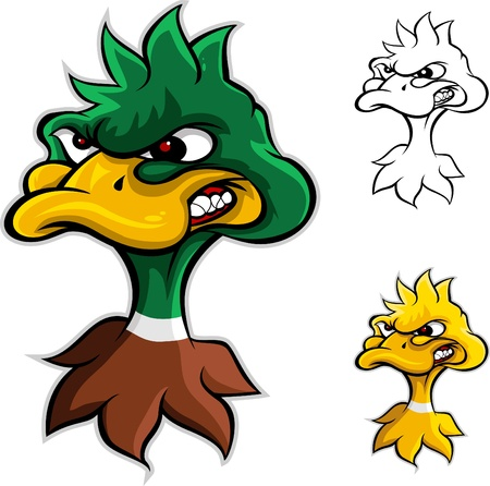 duck: angry duck head cartoon