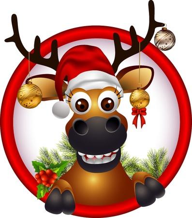 Ciervos de la Navidad Foto de archivo - 16077021