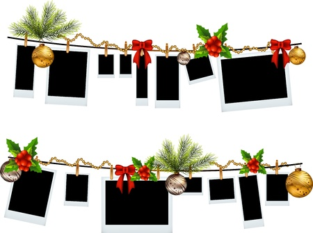 christmas frame: frame set with christmas icon Illustration