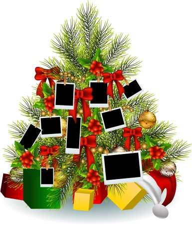 Christmas tree with frame Stock Vector - 16077027
