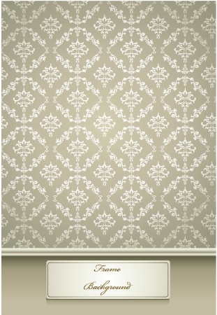 vector illustration of Seamless Damask wallpaper with white color Vector