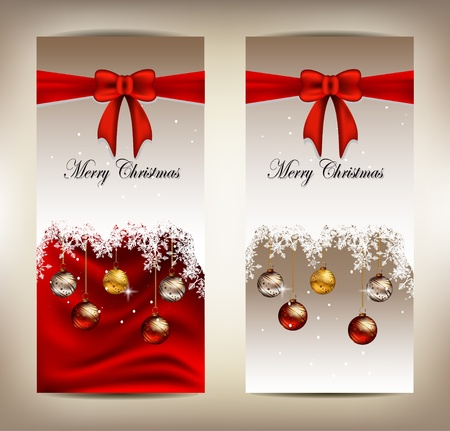 beauty christmas card background Stock Vector - 16195838