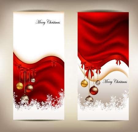 아름다움 크리스마스 카드 배경 일러스트
