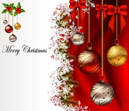 christmas menu: beauty christmas card background Illustration