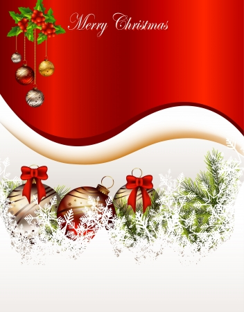 christmas menu: vector illustration of beauty christmas card background