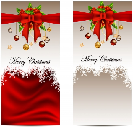 postcard box: beauty christmas card background Illustration