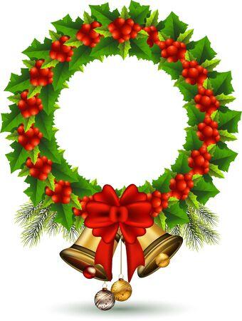 beauty Holly Christmas frame Stock Vector - 16387145