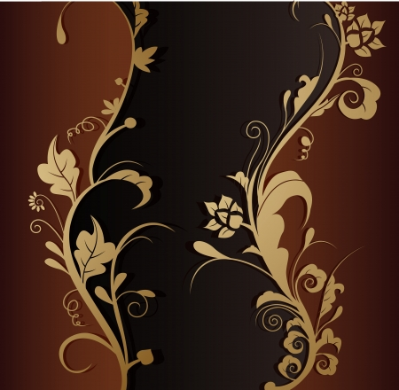 leaf line: vector illustration of beauty floral background