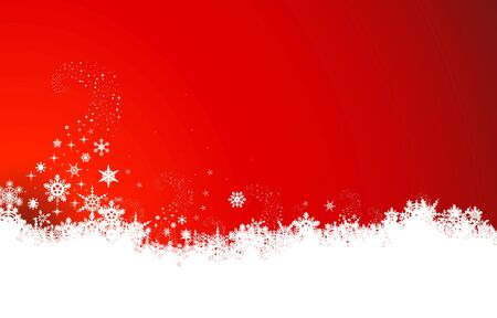 bright red: Abstract christmas background with snowflakes Illustration