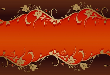 vintage retro floral background Vector