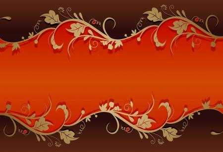 floral border frame: vintage retro floral background