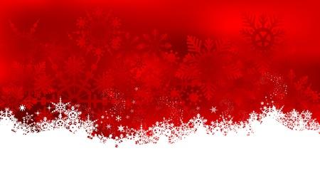 눈송이와 추상 크리스마스 배경