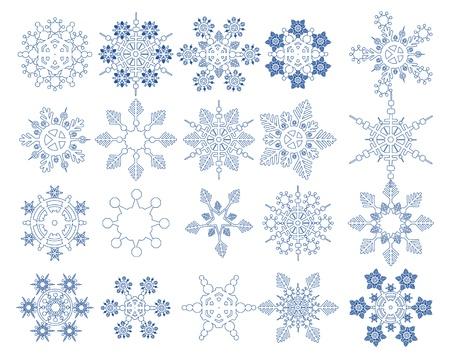 snow flakes: Snowflake Vectoren collectie