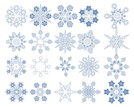 snow storm: Snowflake Vectors collection Illustration