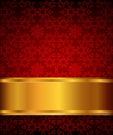 red background with snowflakes element Vector