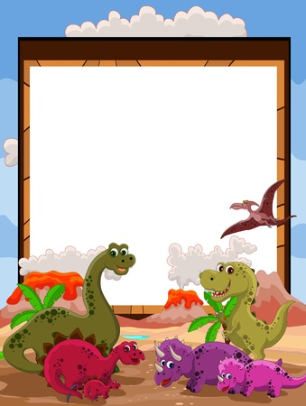 dinosaur with blank sign Stock Vector - 16528511