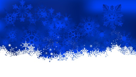 christmas background with snowflake Stock Vector - 16528513