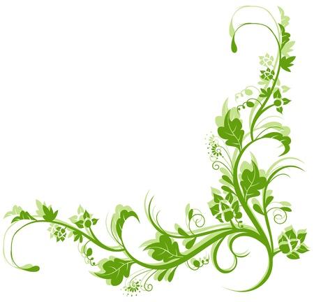 stencil flower: beauty vintage retro floral background