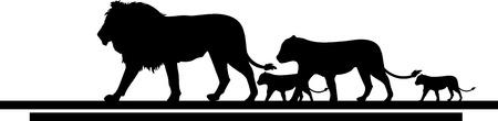 cachorro: ilustración del viaje de la familia león