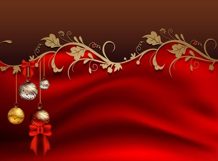 beauty christmas card background with floral concept  Vector
