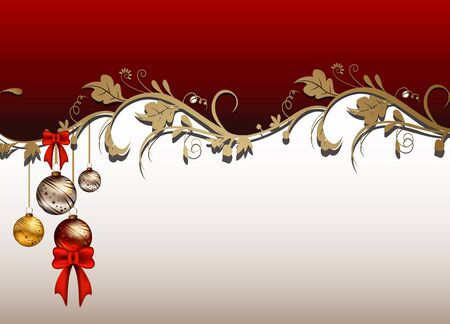 christmas card background: beauty christmas card background with floral concept