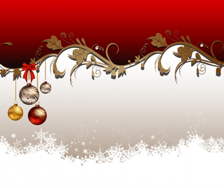 christmas background with snowflake and floral concept  Vector