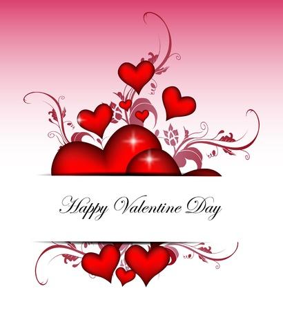 saint valentin coeur: Valentines day carte de vecteur de fond