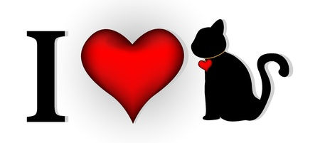 i love cat for you design Vector