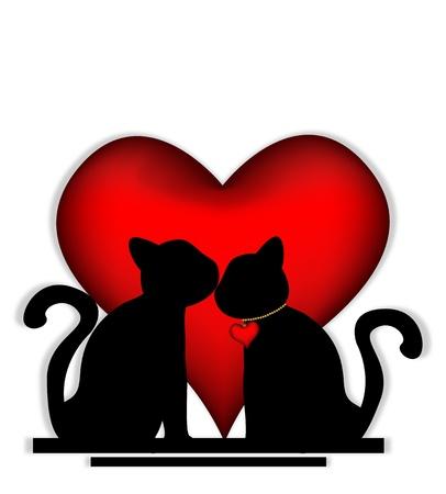 cute love: Cute cats in love