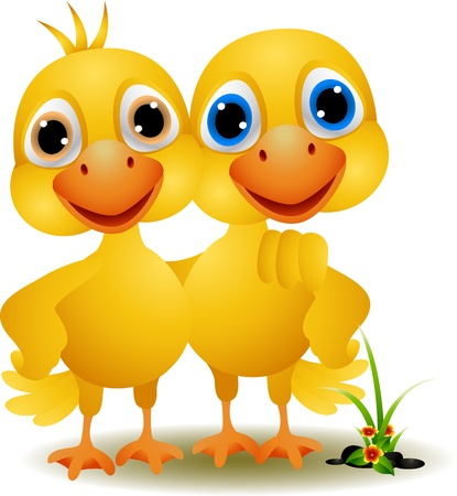 une paire de canards dans une ambiance conviviale