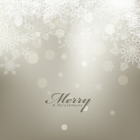 beauty christmas card background with snowflake Stock Vector - 16718941
