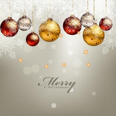 christmas template: illustrazione vettoriale di sfondo bellezza cartolina di Natale Vettoriali