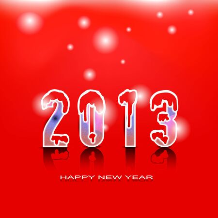 2013 Happy New Year greeting card Vector