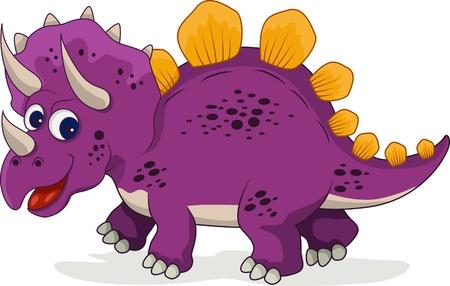 stegosaurus: funny dinosaur cartoon Illustration